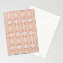 geometry art decó in pink and mauve Stationery Cards