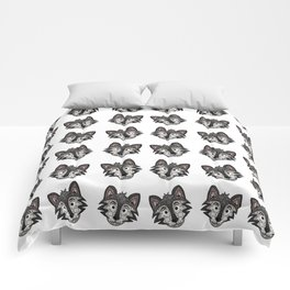 Howl You Doin'? - Cute Wolf - Puppy - 57 Montgomery Ave Comforters