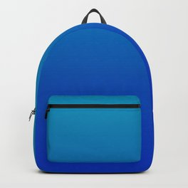 Ombre Hawaiian Ocean Blue Zaffre Gradient Motif Backpack
