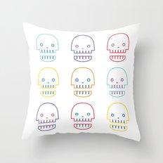 robo skull Throw Pillow