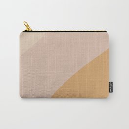 Warm Neutral Color Wave Carry-All Pouch