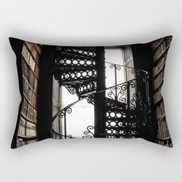 Trinity College Library Spiral Staircase Rectangular Pillow
