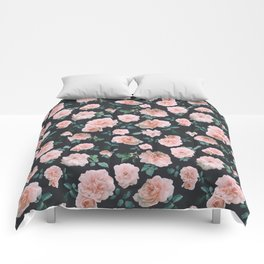 Light Pink Roses Flower pattern Comforters