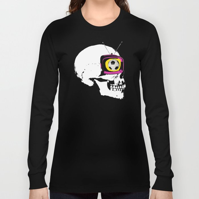 Football Mind - a round thing in the TV eye v3 Long Sleeve T-shirt