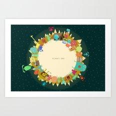 Planet One Art Print