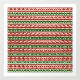 Abstract pattern: christmas Art Print