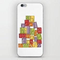 ABC Block iPhone & iPod Skin