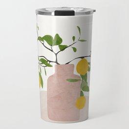 Lemon Branches Travel Mug
