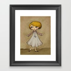 Julia Loves Dancing Framed Art Print