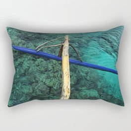 The Float of an Outrigger in Tahiti Rectangular Pillow