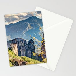 The Roussanou Monastery in the Meteora Monastery complex in Greece is dedicated to St. Barbara. Stationery Cards