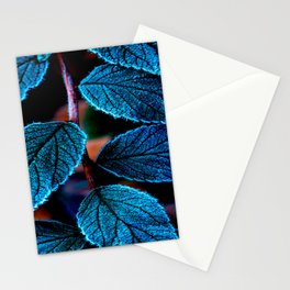 Peacock Blue Leaves Nature Background #decor #society6 #buyart Stationery Cards