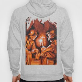Cigarettes may kill you (orange miners on explosives) Hoody