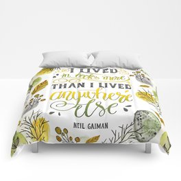 I LIVED IN BOOKS Comforters