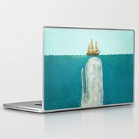pin up Laptop & iPad Skins featuring The Whale  by Terry Fan