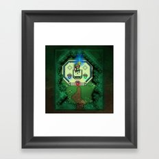 Zelda Link to the Past Master Sword Framed Art Print