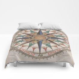 Historical Nautical Compass (1543) Comforters