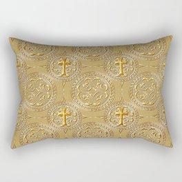 gold cross Rectangular Pillow