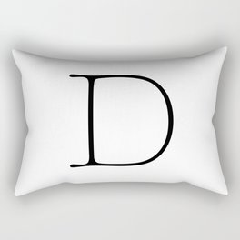 Letter D Typewriting Rectangular Pillow