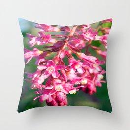 Flowers in Eugene Throw Pillow