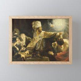 "Rembrandt Harmenszoon van Rijn, ""Belshassar's Feast"", 1636-8 Framed Mini Art Print"
