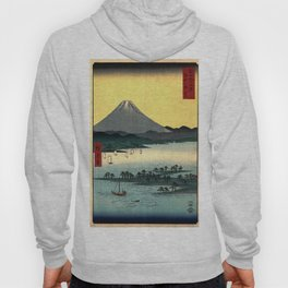 Hiroshige - 36 Views of Mount Fuji (1858) - 24: The Pine Forest of Miho in Suruga Province Hoody