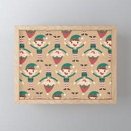 Santa's Elven Slaves II (Patterns Please) Framed Mini Art Print