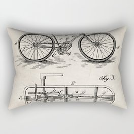 Bike Patent - Bicycle Art - Antique Rectangular Pillow