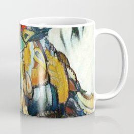 Dramatic Hummingbird in Flight, Colors of Autumn Coffee Mug