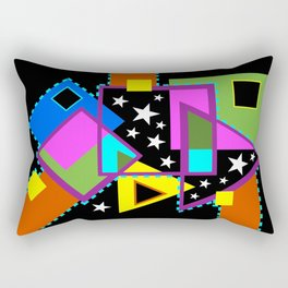 Overlaps With Stars Rectangular Pillow