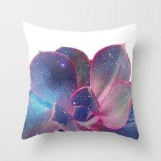 Galactic Succulent Throw Pillow