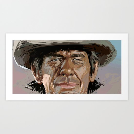 Harmonica Man Art Print