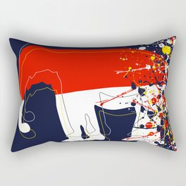 abstract, action painting, elephant Rectangular Pillow