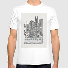 Chicago City MEDIUM Mens Fitted Tee White