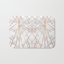 Art Deco Marble & Copper - Large Scale Bath Mat