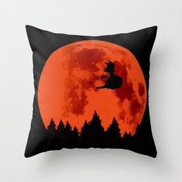 The Moon on Dragon Ball - Black Orange Throw Pillow