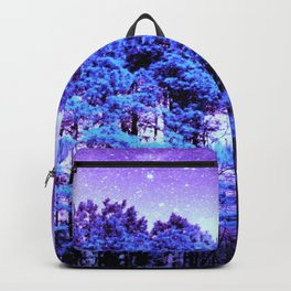 Turquoise Trees Purple Space Backpack