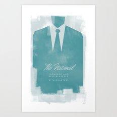 The National - Blue Blazered Art Print