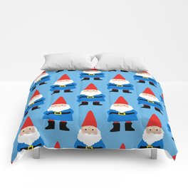 Gnome Repeat in Blue Comforters