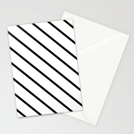 Diagonal Lines (Black & White Pattern) Stationery Cards