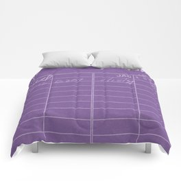 Library Card 797 Negative Purple Comforters