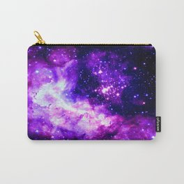Purple Galaxy : Celestial Fireworks Carry-All Pouch