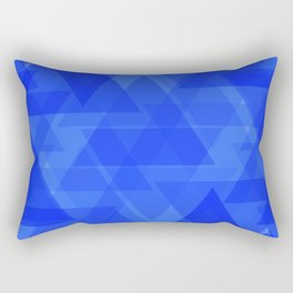 Gentle dark blue triangles in the intersection and overlay. Rectangular Pillow