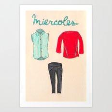Miercoles outfit Art Print