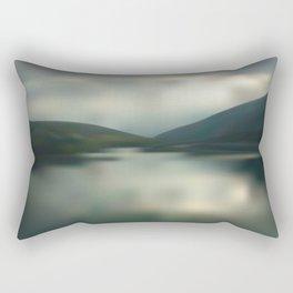 Lake in the mountains Rectangular Pillow