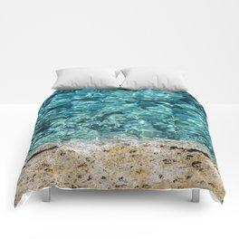 Crystal Blue Ripple Comforters