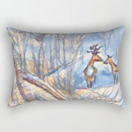 """""""Deer Woods"""" Rectangular Pillow"""
