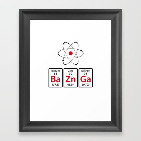 BaZnGa! Framed Art Print