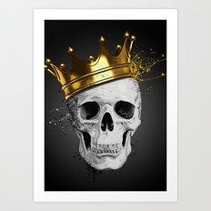 Royal Skull Art Print