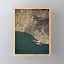Colourful Boats Framed Mini Art Print